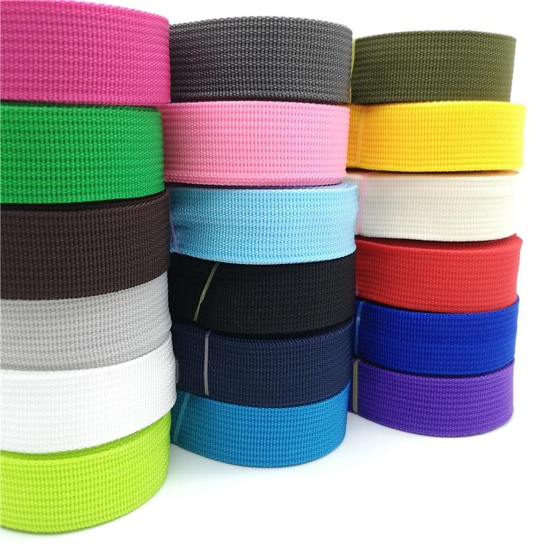 5 Yards 25mm Canvas Ribbon Belt Bag Webbing Nylon Webbing Knapsack Strapping Sewing Bag Belt Accessories