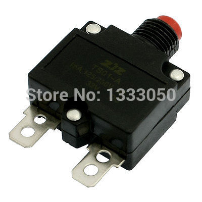 1PC DC 32V Red Push Button Air Compressor Circuit Breaker Overload Protector 5A 10A 15A 20A 2 pin thermal overload protection circuit breaker 10 piece pack