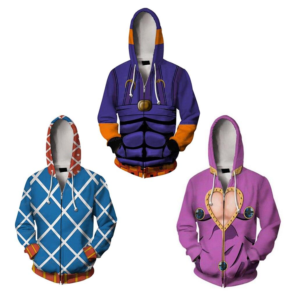JOJO/'s Bizarre Adventure Giorno Giovanna Coat Jacket Sweatshirt Cosplay Hoodie