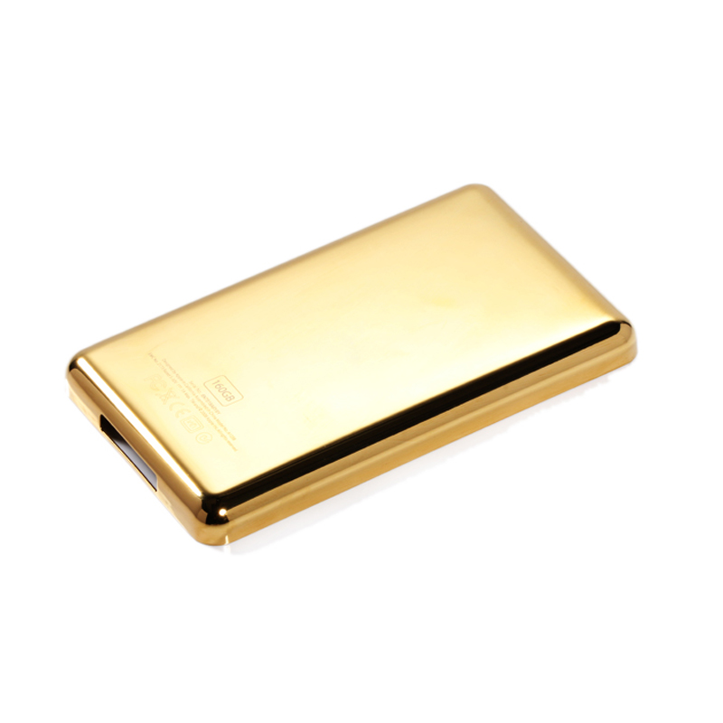 100% New Gold Metal Back Cover Housing High Quality for iPod Classic 80GB 120 GB 160GB Video 30GB Thin