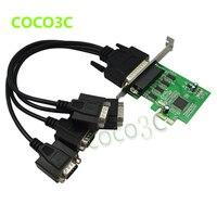 MOSCHIP MCS9904 PCI Express 4 Ports Serial Card PCI E 1x Multi RS 232 DB9 COM