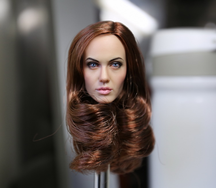 1/6 scale female head shape for 12 action figure doll accessories Angelina Jolie head carved not include the body and clothes die shi spot burning the soul of a model burns 1 6 head carved figures are base contains mask