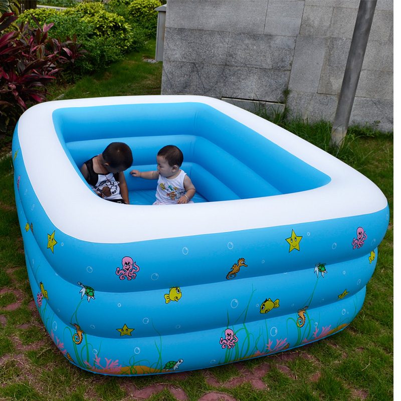 Outdoor summer family inflatable pools square pvc piscina for Best rated inflatable swimming pool