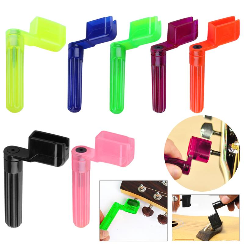 Colorful Guitar String Winder Quick Speed Peg Puller Bridge Pin Remover Tool for Acoustic Electric Guitars Accessories Promotion guitar strings peg winder random color