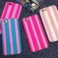 2017 marca de luxo stripe victoria/s secret pink silicone soft case para iphone 4 5 5S se 5c 6 s 6 s 6 plus 7 7 plus capa fundas capa