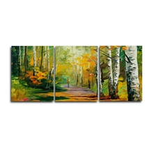 Laeacco 3 Panel Spring Forest Graffiti Canvas Calligraphy Painting Posters and Prints Wall Artwork Nordic Home Living Room Decor