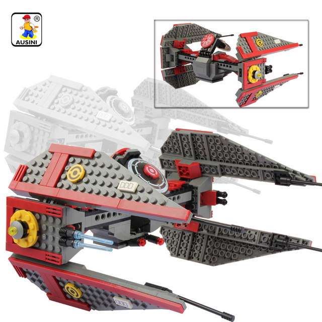 690 pcs model building kits compatible with lego star wars space ship 3d blocks educational model - Lego Vaisseau Star Wars