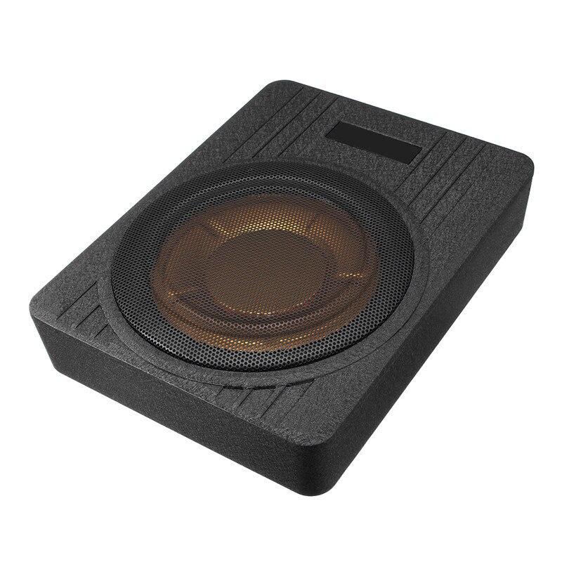 600W 10 Inch 12V Auto Unter Sitz Dünne Aktive Auto Verstärker Subwoofer Schlanke Lautsprecher Verstärker mit Entfernen Control auto Lautsprecher