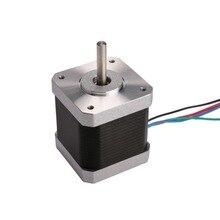 Хорошее качество! Wantai Nema17 шаговый двигатель 42BYGHM810 0,9 градусов 4200g. cm 48 мм 2.4A 5 мм Вал CE ROHS ISO 3d принтер Reprap робот