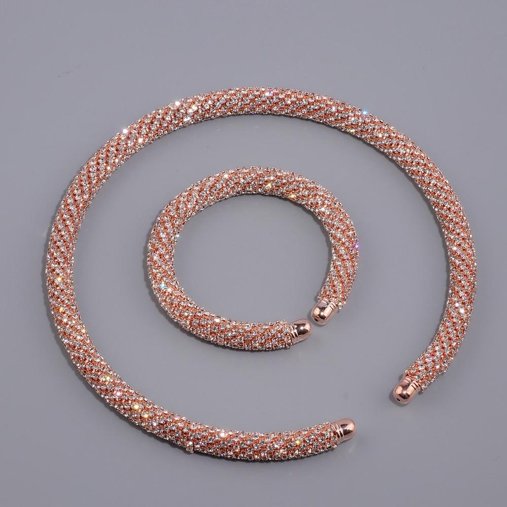 Novi Disign Luksuzni Maxi Crystal Ogrlica Ogrlica Zlato / Srebro - Modni nakit - Foto 4
