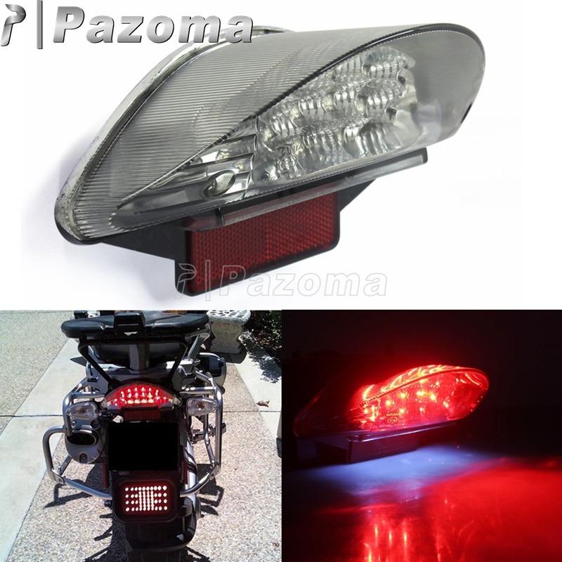 Motorcycles Red 12V 16PCS LED Rear Tail Light Brake Stop Lights For BMW F650 F650 GS F650 ST F800 ST R1200 GS Series