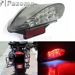 Motorcycles Red 12V 16PCS LED Rear Tail Light Brake Stop Lights For BMW F650 F650 GS F650 ST F800 ST R1200 GS Series