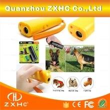 Environment Friendly ABS 9V 125dB Aggressive Electronic Ultrasonic Dog Shocker Repeller Chaser Pet Dog Training LED Flashlight