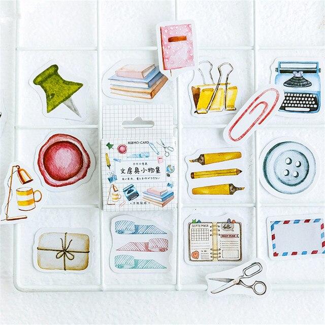 46 unids/caja lindo Bullet diario pegatinas de papelería pegatinas adhesivas decorativas Scrapbooking diario DIY para álbum de fotos