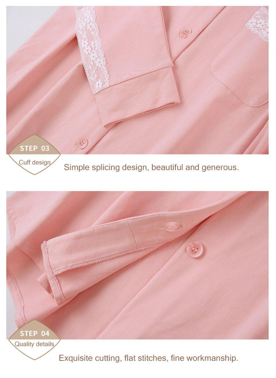 Nova qianxiu conjunto de pijama feminino doce