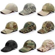 Спортивная камуфляжная кепка с застежкой сзади, Тактическая Военная камуфляжная кепка для охоты для мужчин, шапка для взрослых