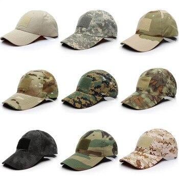Gorra de camuflaje para deportes al aire libre, táctica militar, caza, GYM con velcro para parches