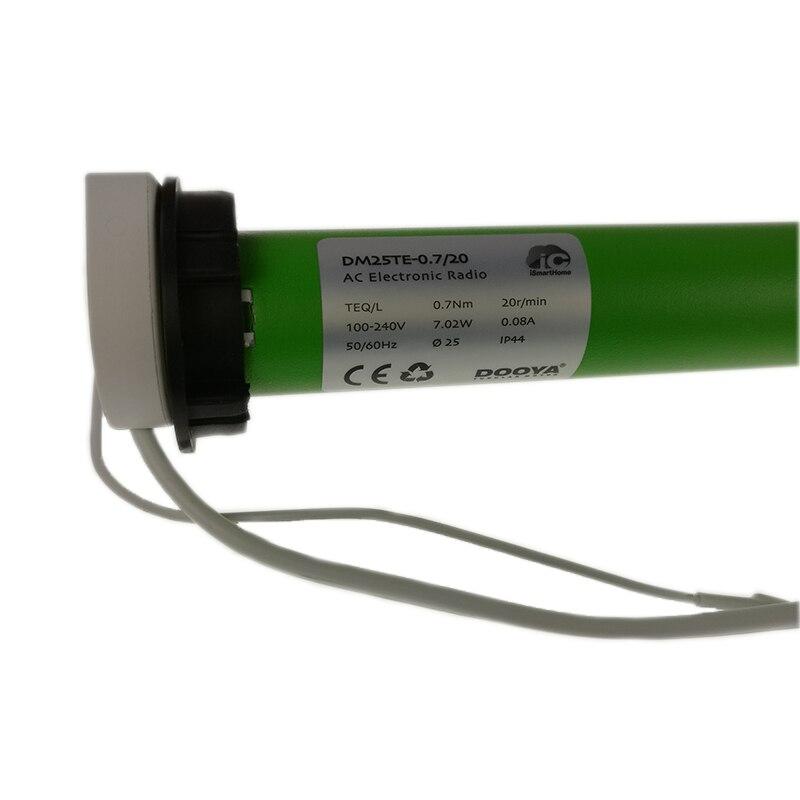 DM25TE, DOOYA tubulaire moteur et télécommande et installer entre parenthèses, pour Dia. 38mm tube