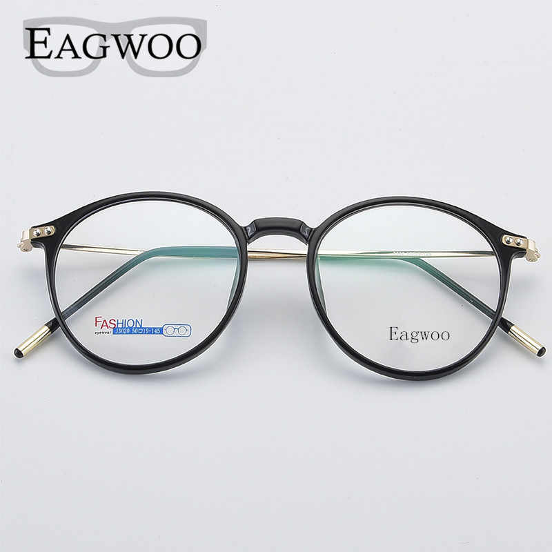 Red Purple Round Vintage Eye Glasses Full Rim Optical Frame Prescription Spectacle Light Comfortable New Eyeglasses 97007