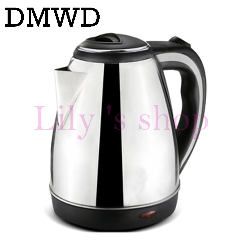DMWD 110V 1.2L Electric Kettle Hot water heating pots Travel boiler Mini Cup Portable Stainless Steel Boiling Teapot US EU plug 1 8l electric kettle heating hot water 1500w electric boiling pot food grade material