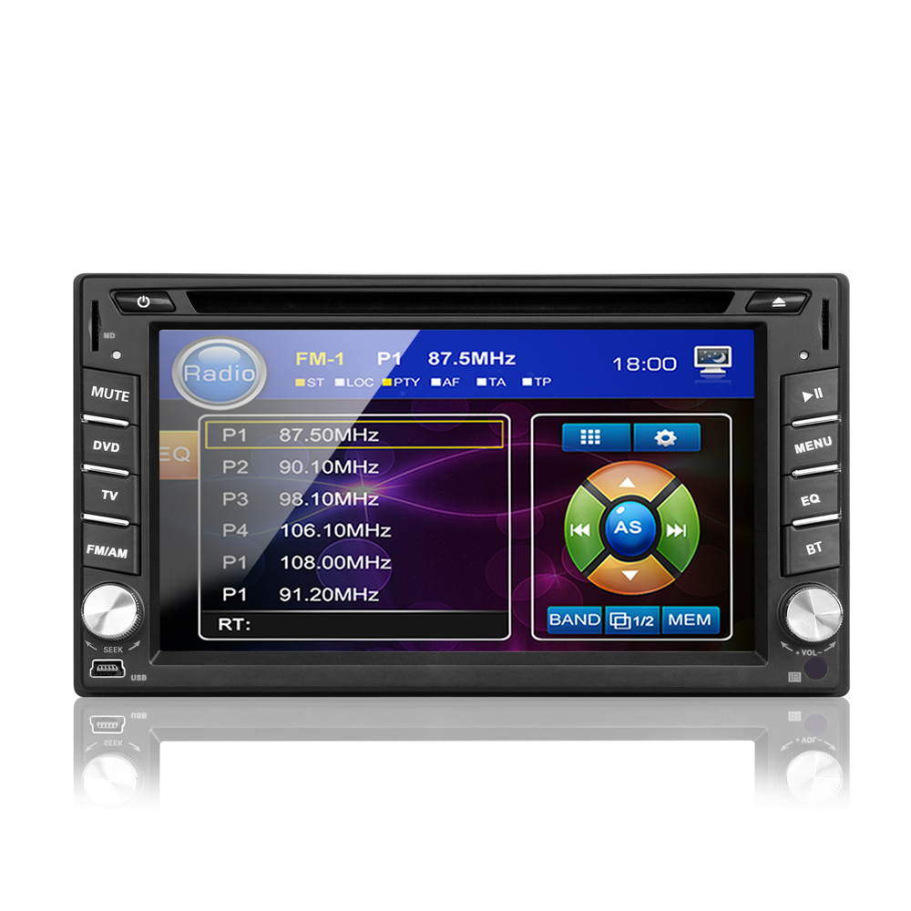 free map 6 2 hd lcd double 2 din in dash gps navi car dvd. Black Bedroom Furniture Sets. Home Design Ideas