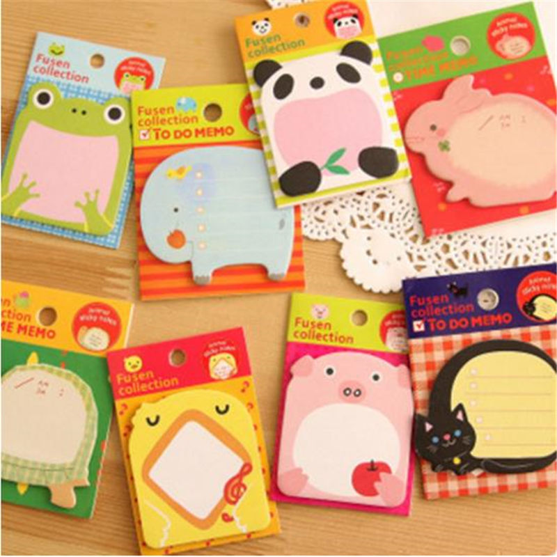 Coloffice Creative Cartoon Cute N Times Sticky Notes Zoo Animal Park Sticky Notes Memo Pad Stationery School Office Supplies 1PC