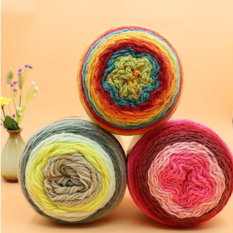 200 Grams/ball High Quality Wool Blended Yarn For Knitting Crochet Yarn Apparel Sewing Fabric Yarn Soft Exquisite Light Elegant