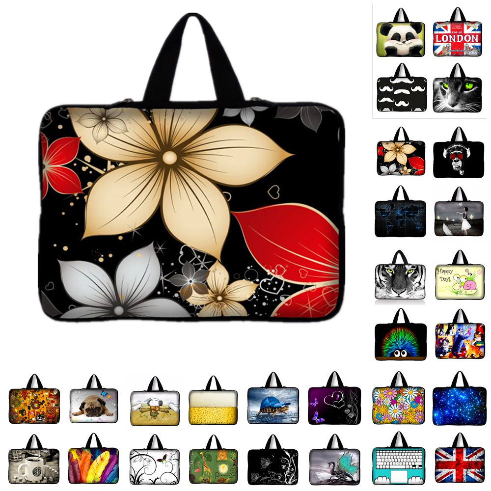 7 9.7 10 11.6 12 13 14 15 17 Tablet Sleeve Case Mini PC Laptop Bag 12.1 13.3 15.4 15.6 Computer Handbag Soft Protector Cover #Q