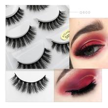 100% handmade 3d mink lashes false eyelashes natural long eye lashes mink eyelashes false eyelash for makeups cilios maquiagem