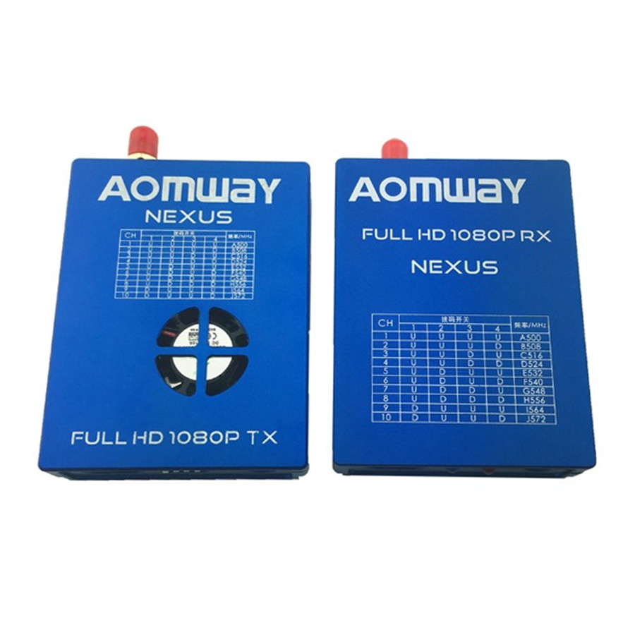 NEXUS V1 FULL HD 1080P 10CH Aomway AV FPV Digital Transmtiter Receiver TX RX Combo long range for RC Quadcopter aomway 1200tvl 960p ccd hd mini camera 2 8mm lens for fpv