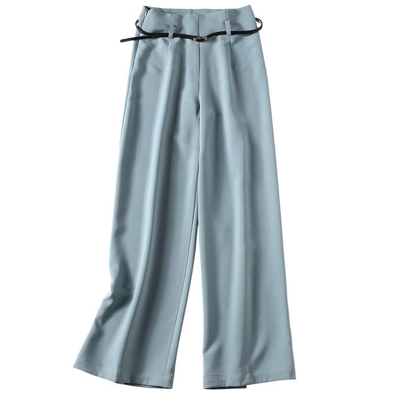 Femmes Printemps Haute Large Pantalon Long Nouvelles Solide Vert 2019 Taille Jambe H5wTWEqx
