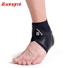 Kuangmi 1 pc Sports Ankle Brace Support Comfortable Ultra-thin Sleeves Running Fitness Gym Protection Feet Heel Guard