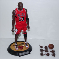 XINDUPLAN Michael Jordan 23 NBA Chicago BULLS 23 Action Figure Toys 1 6 34cm Large PVC
