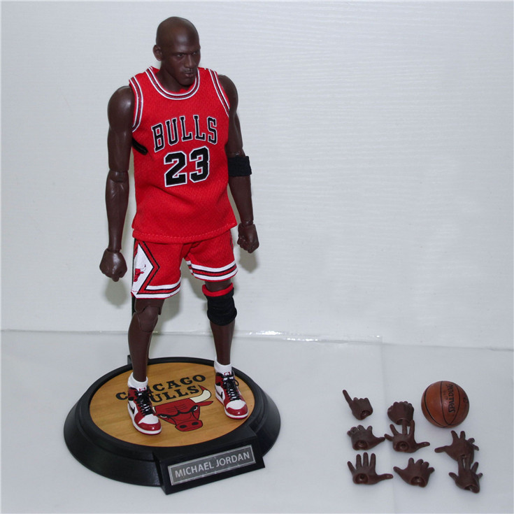 XINDUPLAN Michael Jordan 23 NBA Chicago BULLS 23 Action Figure Toys 1/6 34cm Large PVC Gift Collect Model 1053 michael mcdonald this christmas live in chicago