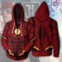 Avengers The Flash 3D Printed Hoodie Sweatshirt Hooded Zipper Jacket Coat Men Women Red Streatwear Superhero Cosplay Costumes