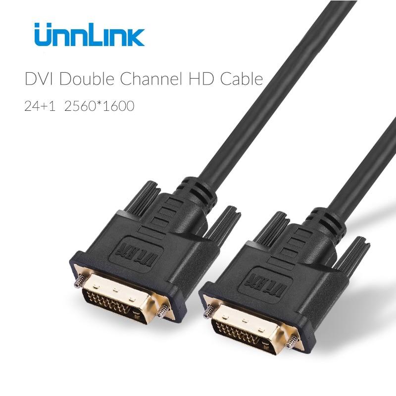Unnlink Dvi-kabel Stecker-stecker Bis zu 2560*1600 @ 60Hz 1 mt 1,5 ...