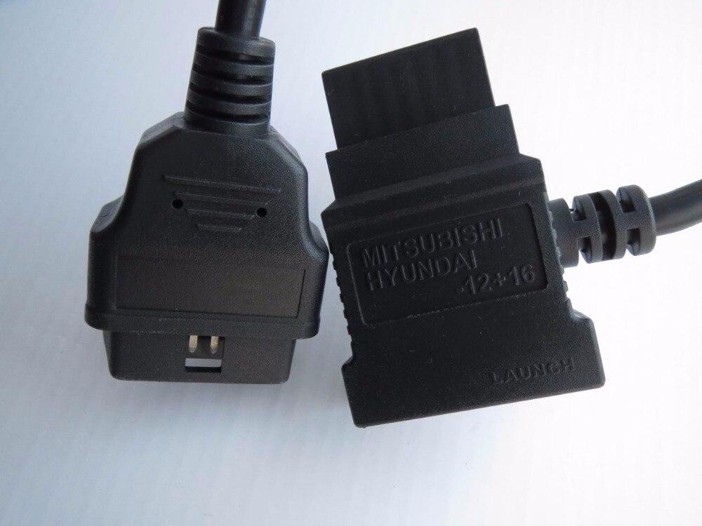 Prix pour 100% d'origine launch x431 pour mitsubishi hyundai-12 + 16 obdii câble pour GX3 Connecteur OBDII Adaptateur 12 16 OBD2 Câbles OBD 2