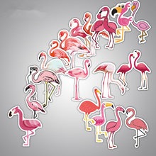 18 pics Flamingo Label Stickers Home Decor Car Styling Decoration Wall Sticker Skateboard Laptop Bicycle Decals pics