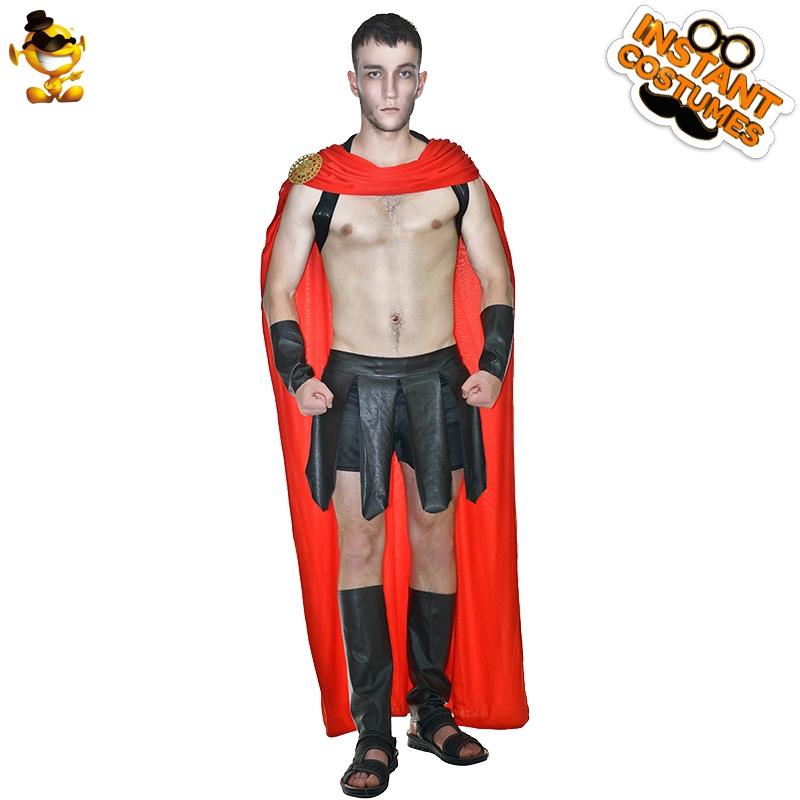 <font><b>Halloween</b></font> Man Ancient Roman Warrior <font><b>Costume</b></font> Fancy Dress Masquerade party <font><b>Sexy</b></font> Roman Warrior Clothing <font><b>Costume</b></font> image