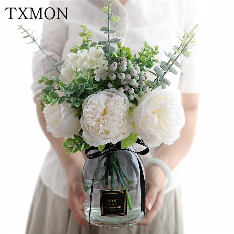 Peony Rose Bouquet Wedding Decorative