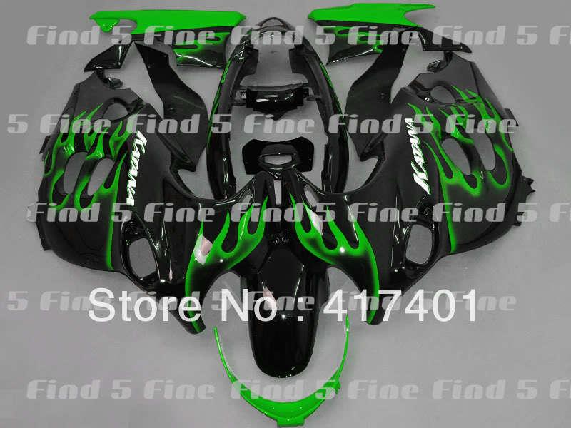 green flame black for GSX600F 03 04 05 06 Katana 03 06 GSX750F 2003 2006 600F 750F 2003 2004 2005 2006 ABS fairing kit