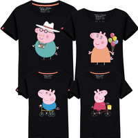 95 Cotton 5 Silk Family Look 2017 Summer Family Clothing Mother Daughter T Shirt Family Matching