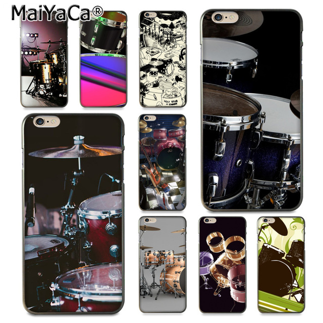 Tireless Maiyaca Musical Instrument Drum Novelty For Iphone 4s Se 5c 5s 6s 8 Plus X Xr Xs Max Black Soft Shell Phone Case Rubber Silicone With Traditional Methods Cellphones & Telecommunications
