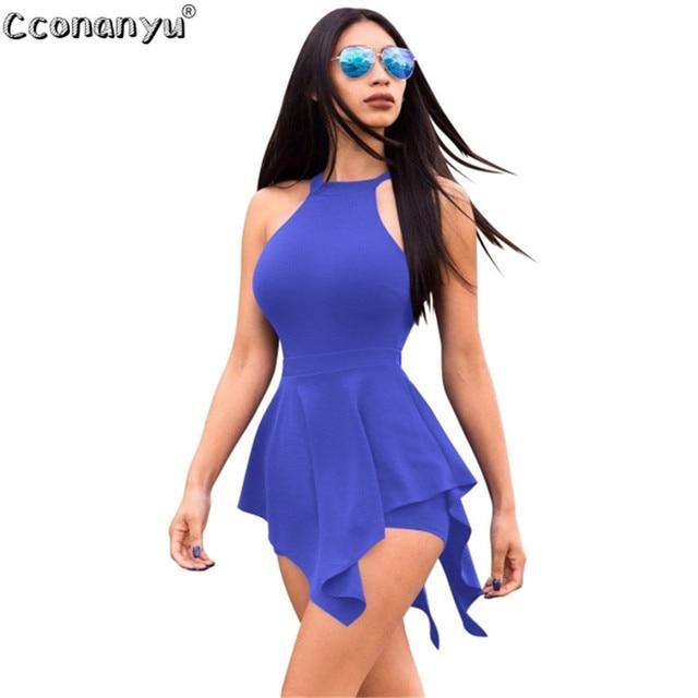 2019 Casual Playsuit Summer women Beach Jumpsuit skinny sexy Ruffles Elegant Slim Women Clothes White Black Sexy Short Pants 2