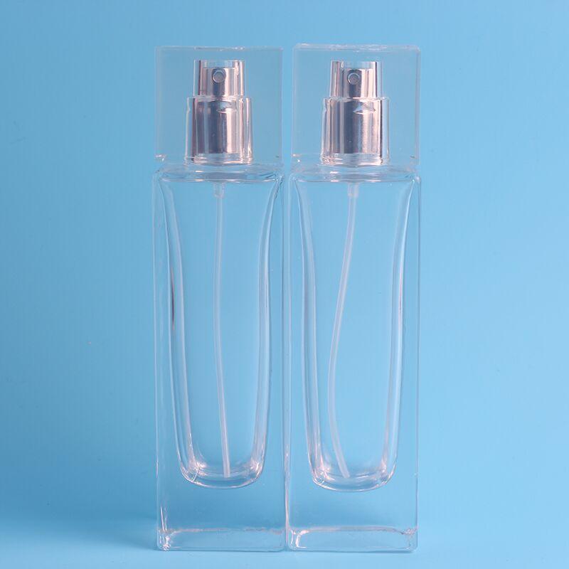 10 pieces 50ml Mini Transparent Quartet Premium Perfume Spray Bottle & Fillable Makeup Water Glass Unpacking Free Shipping free shipping 100pcs 2017 new 6ml spray perfume bottle