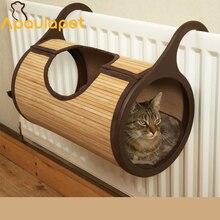 APAULAPET натуральный бамбук радиатор кошка кровать-тоннель для кошек мебель& скребок Pet Поставщик