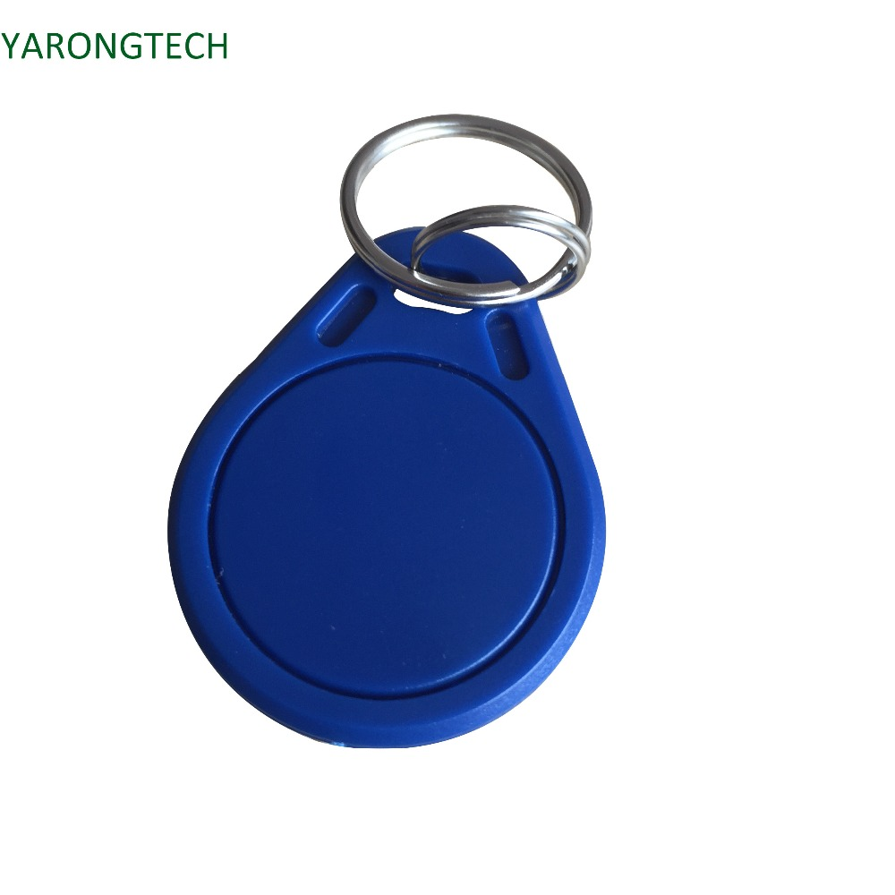 10pcs/lot 13.56mhz Blue Rfid Key Fob Nfc 4K Tag For Door Entry Access Control