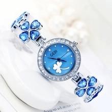 Mujeres de Lujo Famoso de la Marca Lucky Clover Pulsera Relojes Señoras Reloj Femenino Reloj de Pulsera Impermeable de Calidad Superior