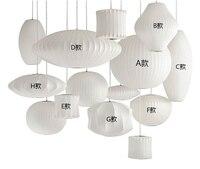 Бесплатная доставка пузырь лампы шар подвесной светильник Белый Реплика E27 кулон с шелковыми нитями подвесной светильник подвесные светил