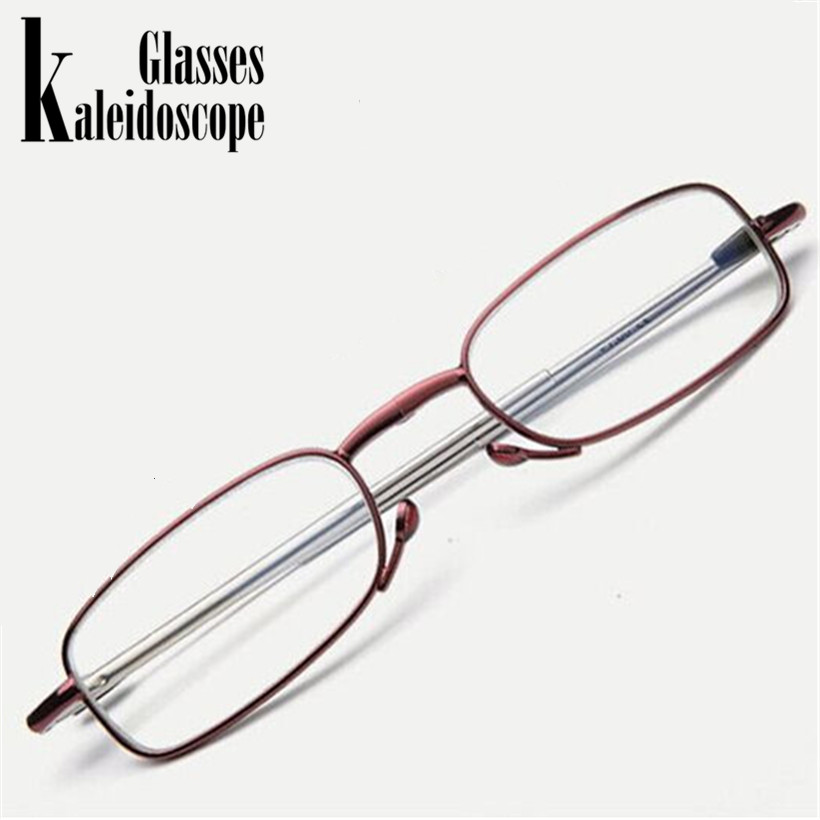 Kaleidoscope Glasses Folding Reading Glasses Portable Presbyopic Glasses with Box Reader Glasses Men Women Spectacles Goggles